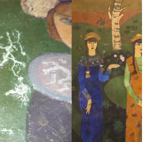 Painting in the entrance: before and after